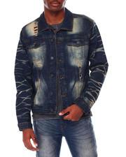 Men - Premium Denim Rip & Repair Denim Jacket-2711914