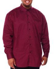 Men - All Over Pattern Long Sleeve Woven Shirt (B&T)-2707905