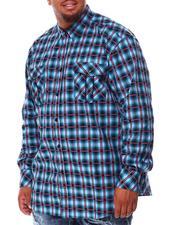 Men - Plaid Long Sleeve Woven Shirt (B&T)-2707915