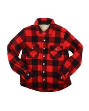 Button-downs - Polar Fleece Sherpa Bonded Shirt (4-16)-2711083