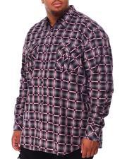 Men - Plaid Long Sleeve Woven Shirt (B&T)-2707910
