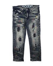 Bottoms - Rip & Repair Paint Splatter Jeans (4-7)-2711224