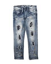Bottoms - Rip & Repair Paint Splatter Jeans (4-7)-2711240