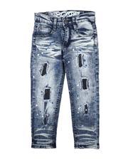 Bottoms - Rip & Repair Paint Splatter Jeans (4-7)-2711256