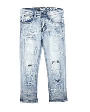 Bottoms - Paint Splatter Rip & Repair Jeans (4-7)-2711272