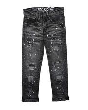 Bottoms - Paint Splatter Rip & Repair Jeans (4-7)-2711288