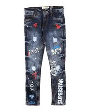 Jeans - Graffiti All Over Print Jeans (8-20)-2712469