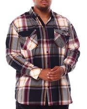 Men - Plaid Long Sleeve Woven Shirt (B&T)-2708043