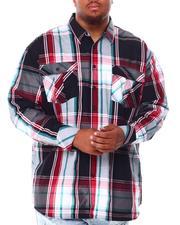 Men - Plaid Long Sleeve Woven Shirt (B&T)-2708048