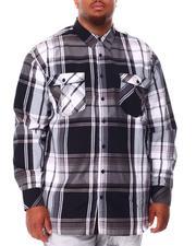 Men - Plaid Long Sleeve Woven Shirt (B&T)-2708053