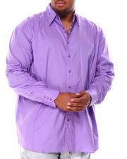 Men - Contrast Stitch Long Sleeve Woven Shirt (B&T)-2708075