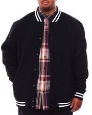 Men - Lightweight Fleece Baseball Jacket (B&T)-2708115