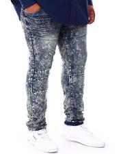 Men - Haze Distressed Washed Denim Jeans (B&T)-2710849