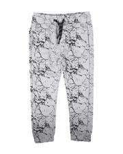 Bottoms - All Over Crackle Print Knit Joggers (4-7)-2713299