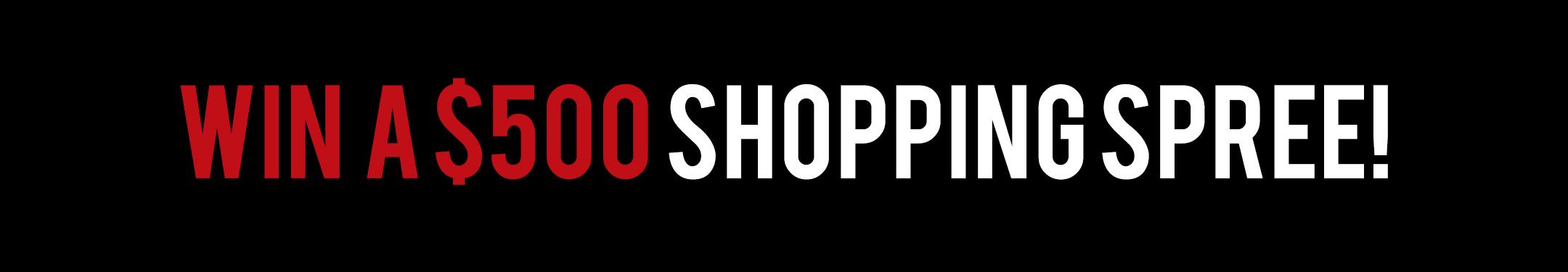 Enter to Win a $500 Shopping Spree