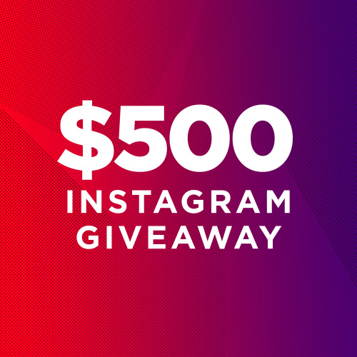 Win A $500 Giveaway On Instagram!